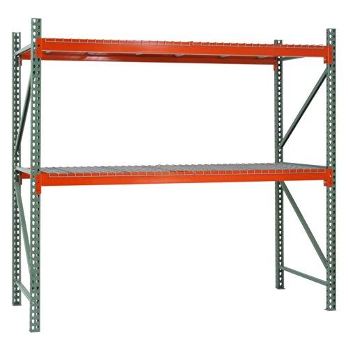 Muscle Rack PR12042120 Pallet Rack Starter Kit 42 Length x 120 Height x 120 Width GreenOrange