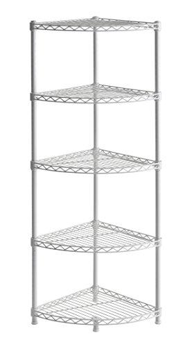 Muscle Rack WSCR141447 5-Shelf Steel Wire Corner Shelving Unit 14 Width 47 Height 14 Depth