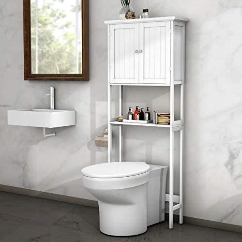 Over-The-Toilet Space Saver BestComfort Bathroom Cabinet Organizer Over ToiletStorage Cabinet with Adjustable Shelf for Bathroom