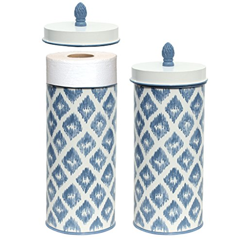 Toilet Roll Storage Holder Free Standing Toilet Roll Toilet Paper Holder Blue White