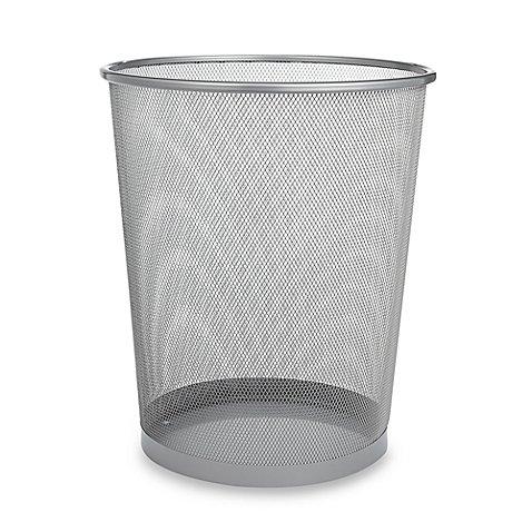 Classic Design Mesh Metal Wastebasket 6 gallon in Chrome