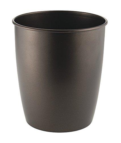mDesign Metal Wastebasket Trash Can for Bathroom Office Kitchen - Bronze
