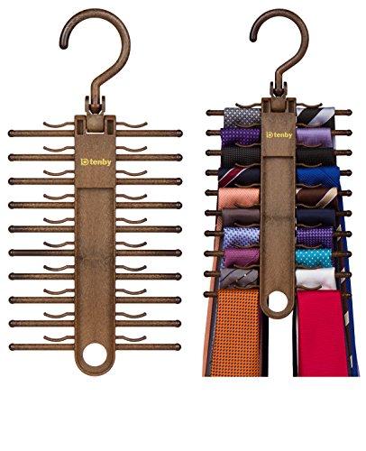 2-PACK Tenby Living Tie Racks Organizer Hanger Holder - Affordable Tie Rac