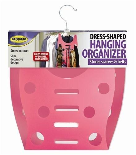Dress Shaped Hanging Organizer Closet Scarves Belts Storage Space Saver Hang NEW