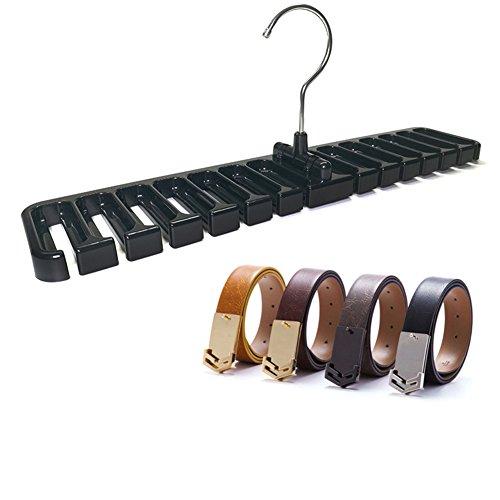 Black Tie Belt Rack Organizer Hanger Holder with 360 Degree Rotation