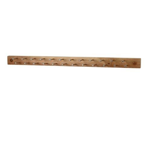 Spectrum Diversified Tie and Belt Rack Wall Mount 24-Peg WoodNatural