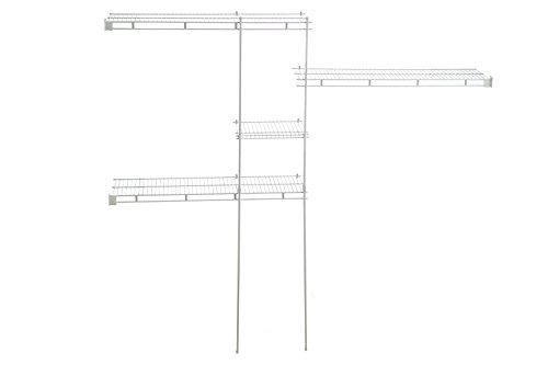 ClosetMaid 1628 5ft to 8 ft Closet Organizer Kit White