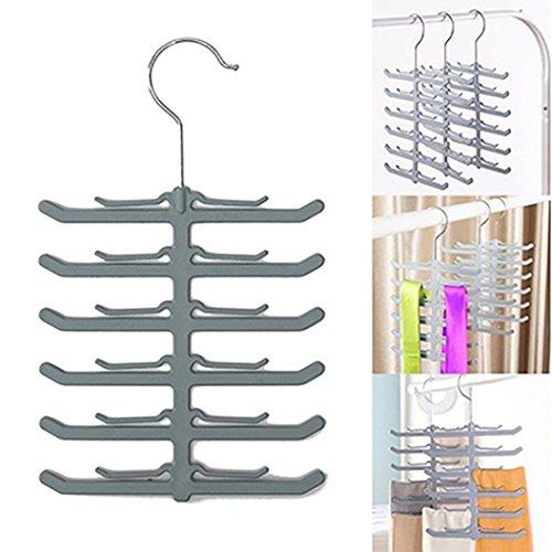 Fengzhicai Multifunctional Rotating Tie Rack Neck Tie Hanger Belt Organizer Holder 1 pcs