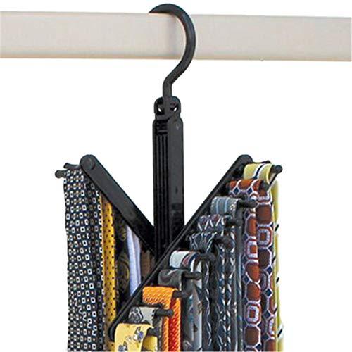 Living 2 Pcs Black Tie Rack Organizer Hanger Holder - Affordable