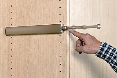 Extendable Closet Valet Rod - Satin Nickel 14