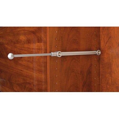 Rev-A-Shelf RCVR-14-SN Designer Series Valet Rod for 14 in Closets - Satin Nickel