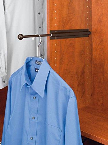 Valet Rod Standard Series for Closet - CVL-12-ORB - 34W x 17-78D x 1-916H - Oil Rubbed Bronze