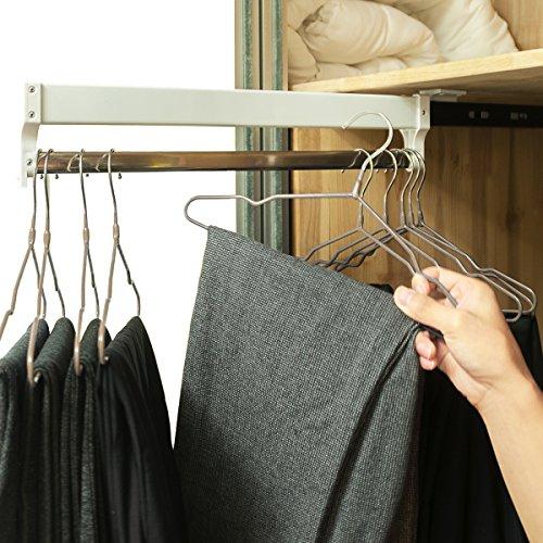 Extendable Closet Valet Rod Retractable Pants Rack AINGER137 inches