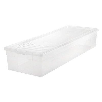 IRIS USA 105000 30 Wrapping Paper Storage Box Clear