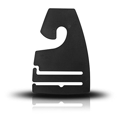 Discount Sizing Black Plastic NeckTie Hanger Hooks - Various Quantities Available 100