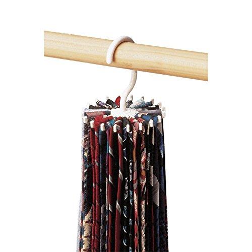 Rotating Belt Scarf Rack Organizer Adjustable Hooks Men Neck Tie Hanger 1pc