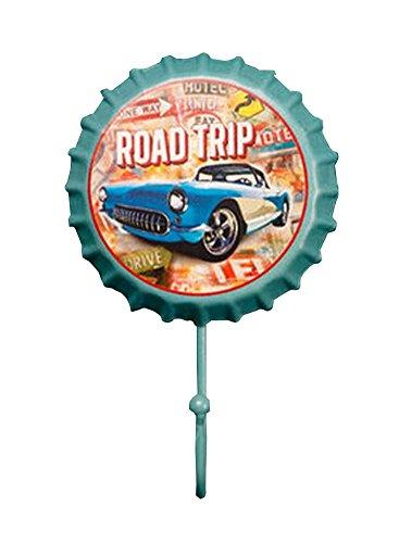 Retro Metal Utility Hook Creative Beer Cap Decorative Coat Scarf Hook Car Travel