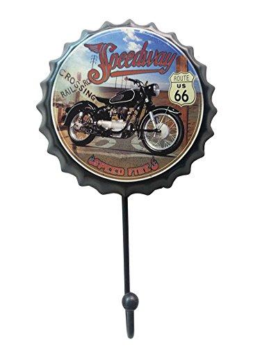 Retro Metal Utility Hook Creative Beer Cap Decorative Coat Scarf Hook Motorcycle