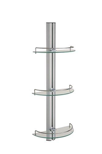 Organize It All 16943W1P 3-Tier Half Moon Glass Shelf