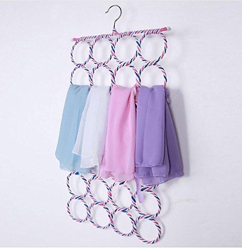 4 Size Belt Tie Hook Storage Rattan Weave Slots Circle Hanger Rack Scarves Home Shawls Neckties Organizer Holder