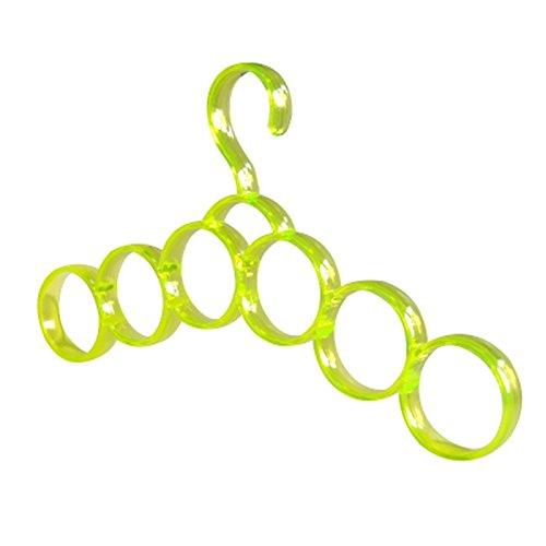 Multifunctional 6 Circles Scarf Holder Belt Organization Towel Hanger Yellow