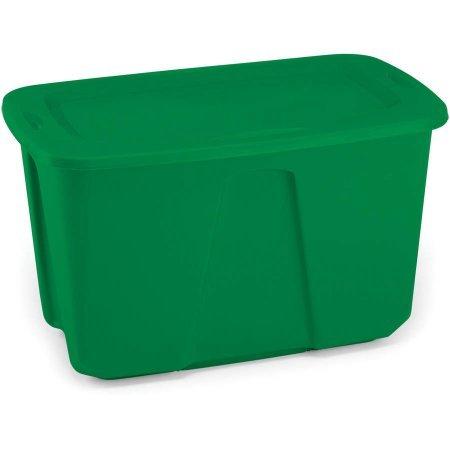 Homz 32 Gallon Green Holiday Storage Tote Set of 6