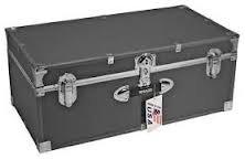 Mercury Luggage Stackable Storage Locker 30 inch Silver Gray
