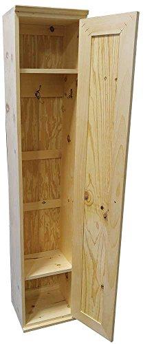 Storage Locker Cabinet Unfinished Pine