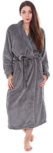 Simplicity Unisex Plush Spa Hotel Kimono Bath Robe Bathrobe Sleepwear Steel Grey