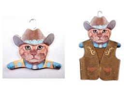 Cowboy Cat Hanger Sign