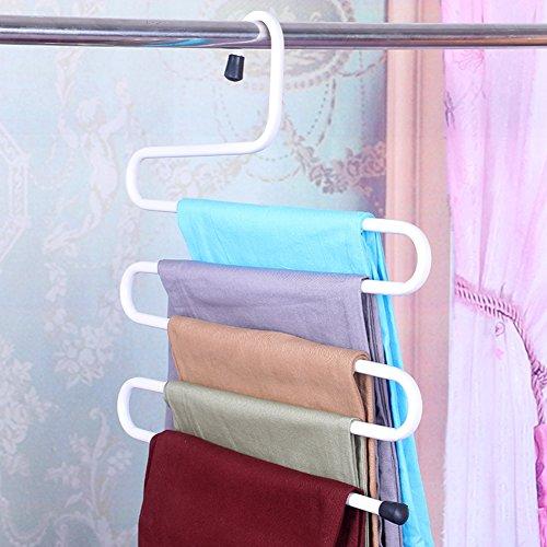 1multi-function s-type multilayer trousers frameclothing shop hanger display stand wardrobe hanging pants-B