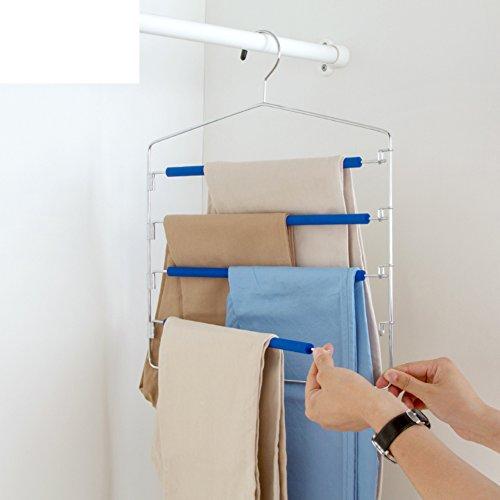 Multifunctional trousers hanging pants rack non-slip hangerhousehold closet storage pants rack