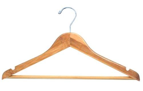 Bamboo Flat Suit Hanger -100 Hangers-