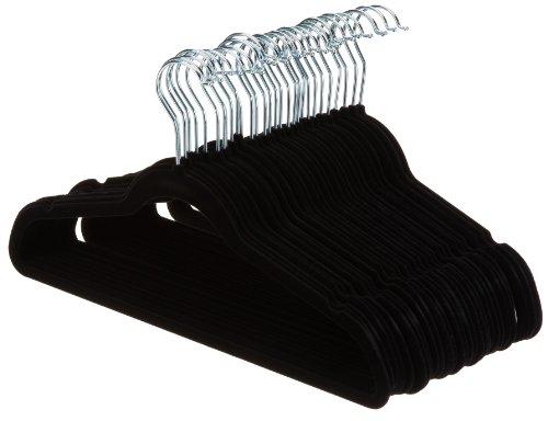 AmazonBasics Velvet Suit Hangers - 30-Pack Black