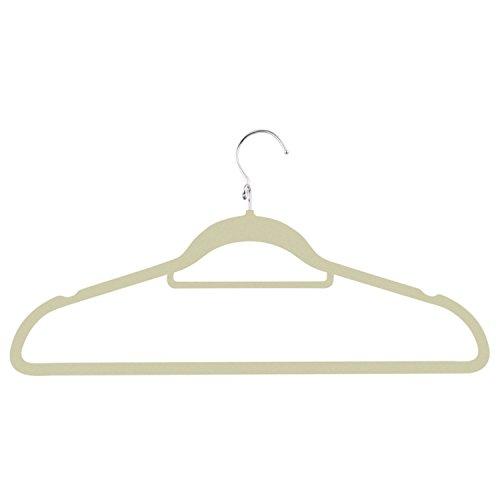 Honey-Can-Do HNG-02000 Cascading Velvet Touch Suit Hanger 3-Pack Ivory