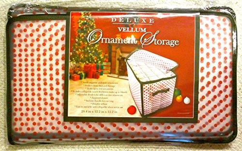 Jo-anns Seasonal Ornament Storage Baghandlezipper Closurered Polka Dotvinyl204x122x122