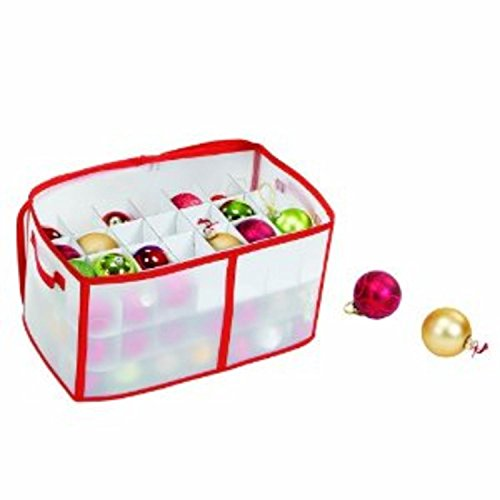Zip-Up Christmas Decoration Storage Bag - Holds up to 112 Ornaments