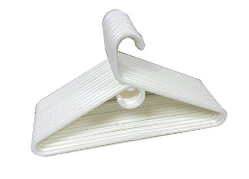 12 Set Heavy Duty Tubular Hangers White Jumbo Plastic Adult Cloth Coat Suit Closet Organization Hanger