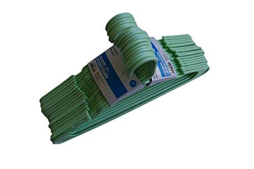 Room Essentials Adult Hangers Pale Green - 18 Count