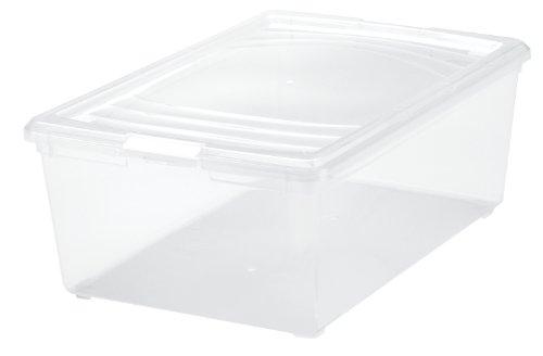 13 Quart Large Plastic Shoe Box Clear - Set of 16