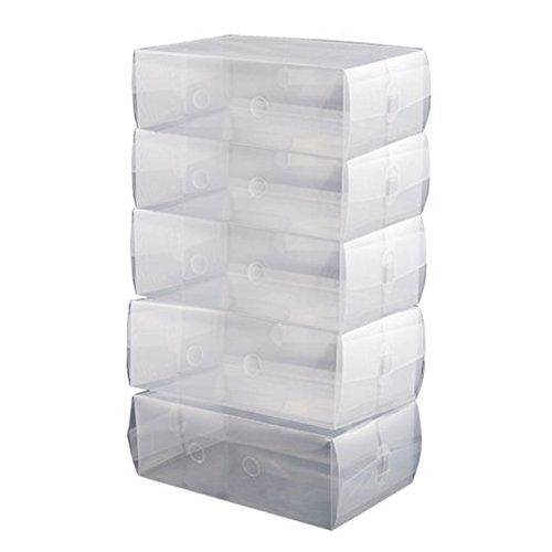 Clear Shoe Boxes - SODIALR20 x Ladies 30cm x 18cm x 10cm Stackable Plastic Clear Shoe Boxes Storage Organiser 20 Clear Box
