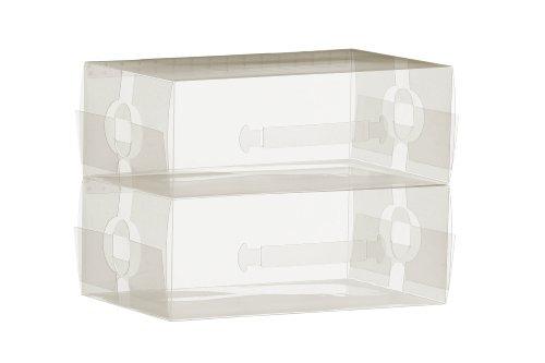 Premier Housewares Mens Shoe Boxes - 21 x 34 x 13 cm Set of 2 by Premier Housewares