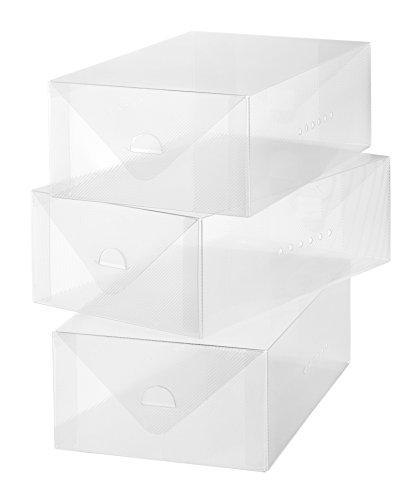 Whitmor Clear Vue Mens Shoe Box S3