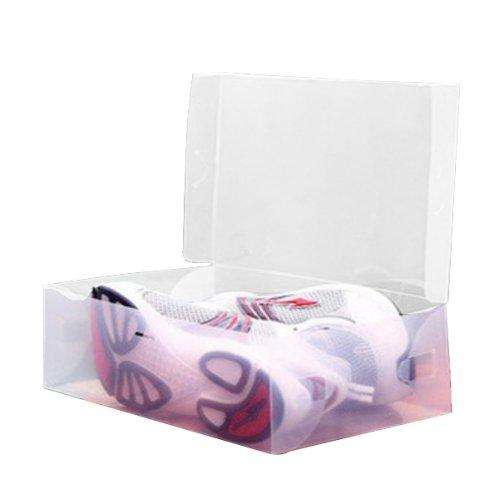 BoatShop Plastic Transparent Man Shoebox Storage Box Mouldproof Box