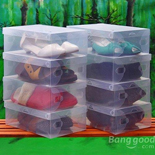 C&C Products Plastic Transparent Man Shoebox Storage Box Mouldproof Box