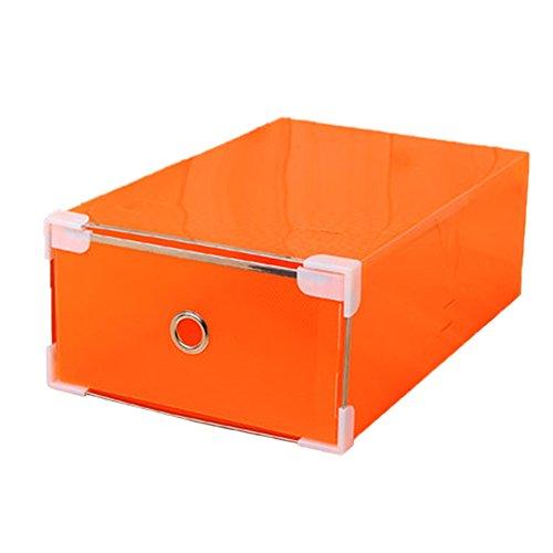 Storage Box Collection Womens Shoe Box Shoe Storage Orange