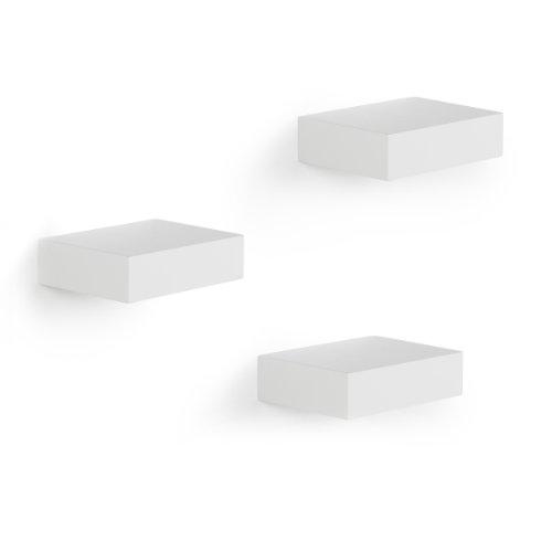 Umbra Showcase Display Shelves White Set of 3