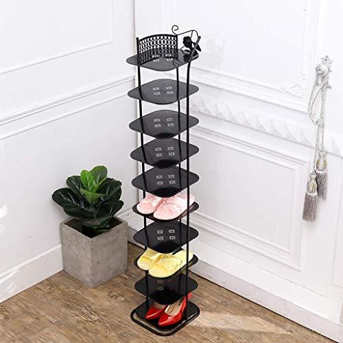 XJXHLG Shoe Rack Door Hanging Shoe Rack Door Hanging Shoe Rack Metal Shoe Rack Multi-Layer Shoe Storage Box Space-Saving Home Assembly Shoe Rack Shoe Rack Storage Color  Black Size  8 Layer