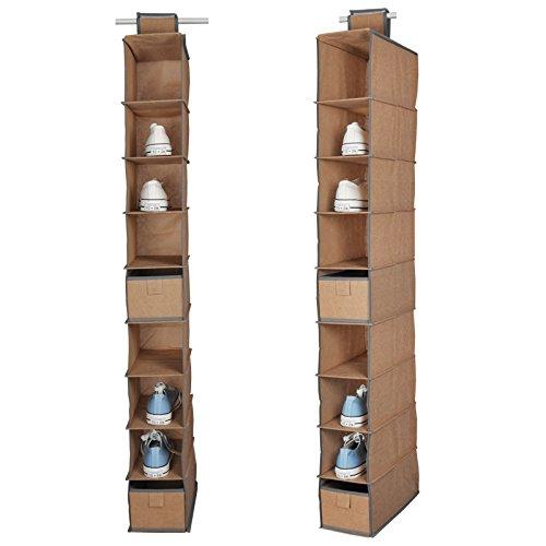 Aodicon 10 Shelf Hanging Shoe Bag