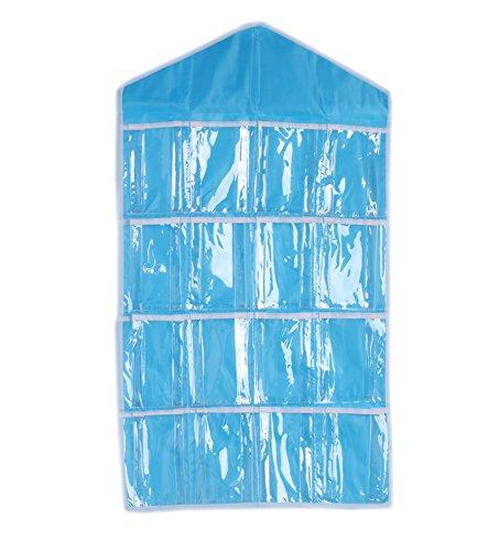 Jieteenager Blue Protable 16 Pockets Door Hanging BagShoe Rack Hanger